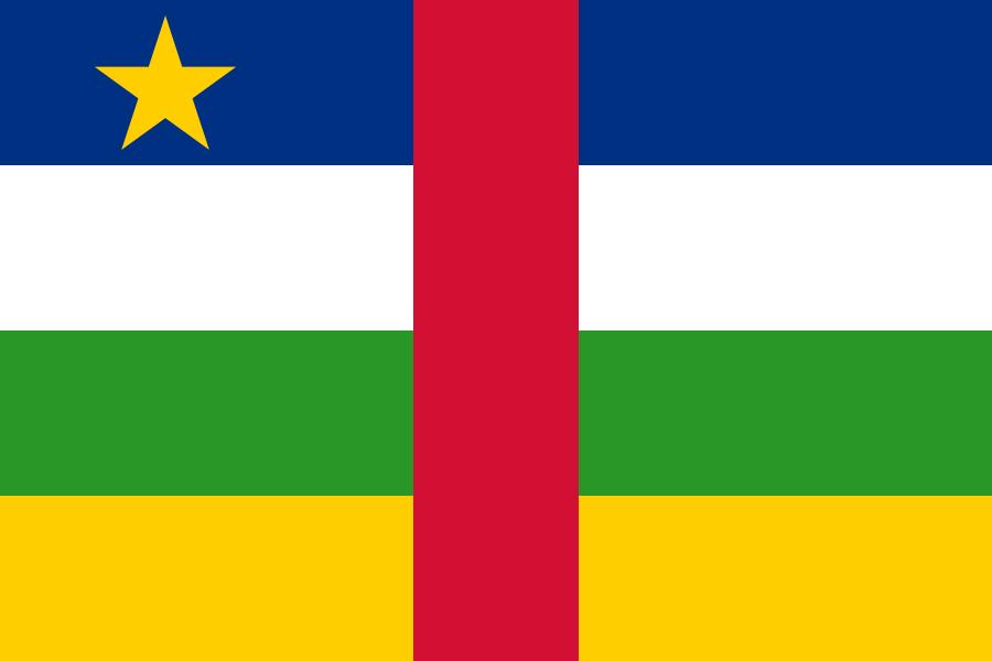 Флаг Центрально - африканской республики
