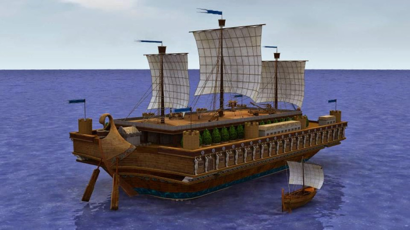Торговый корабль древних греков, фото: olympia.gr