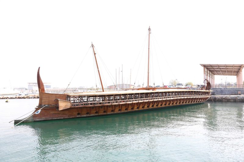 Трирема Олимпия в Национальном морском музее в Пирее, Фото: modelships.de