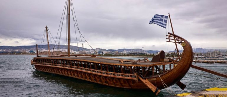 Боевой корабль античных греков